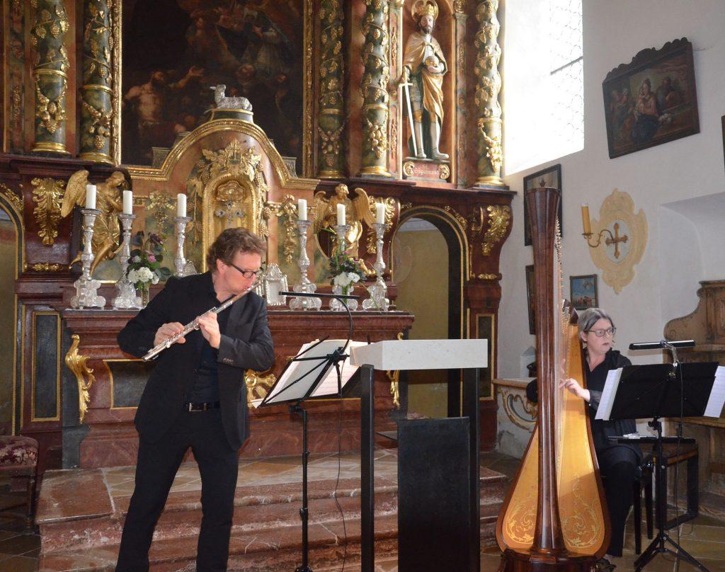 Duo Flöte-Harfe: Andreas Haas und Barbara Gollwitzer